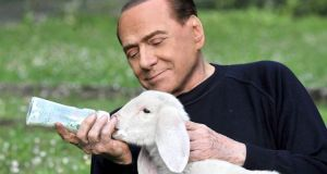 "<div class=""buttonTitle""><div class=""roundedlIcon white mbianco mprest""></div></div>Silvio Berlusconi calling for Italians to have a ""vegetarian Easter"""