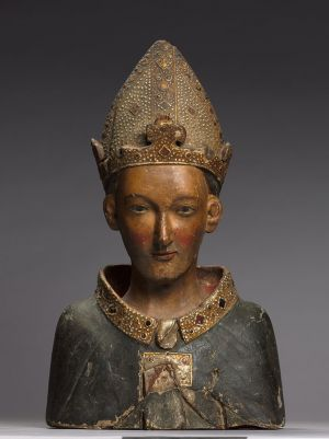 Bust Reliquary of Saint Louis, Bishop of Toulouse Wood with paint and gilding, H. 24-3/8 in. Italy, Siena, late 1300s The Cleveland Museum of Art, Gift of Albert van Stolk 2011.153