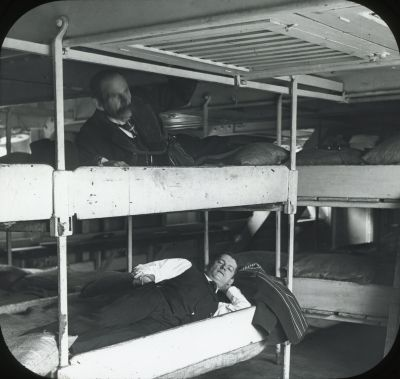 Most of our ancestors sailing the Atlantic spent two weeks aboard a steamship sleeping in noisy, foul and cramped steerage accommodations with up to 200 other passengers. They had no privacy and often resorted to sleeping in their clothes. It was a miserable experience