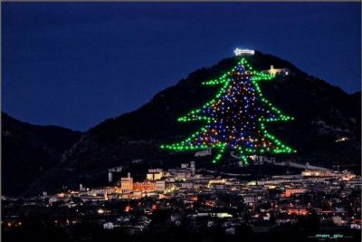 The Biggest Christmas Tree in the World, Gubbio, Umbria