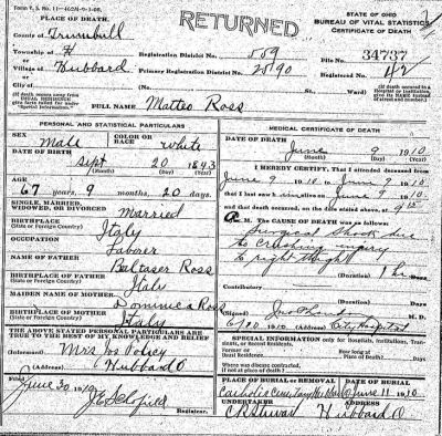 Discovering La Famiglia: Finding Your Family in U.S. Death Records