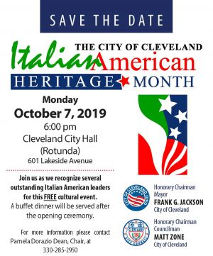 Cleveland Italian American Heritage Committee Announces  2019 Italian Heritage Month Honorees