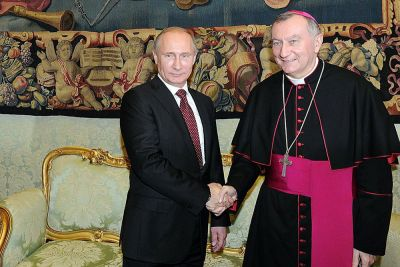 Pietro Parolin has met with President Putin