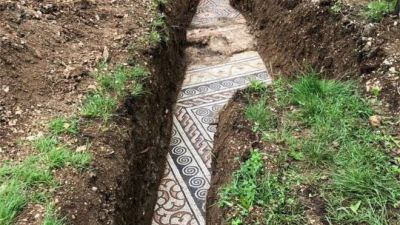 A Roman mosaic discovered in Valpollicella