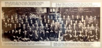 This wonderful 1926 photograph of Akron's Society Di Mutua Soccorso Carovilese (Carovillese Lodge and Club) has the names of its members documented, many of which are original Italian surnames.