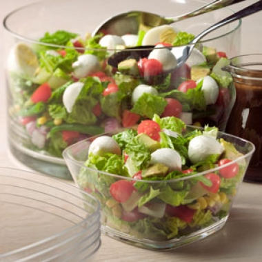 Layered Mozzarella Chef Salad