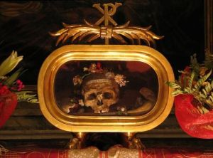 Paying homage to the bones of St. Valentine