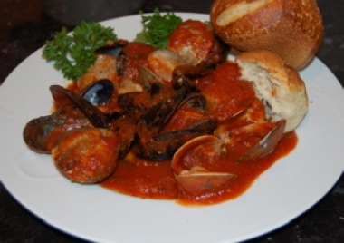 Peppered Mussel and Clam Stew