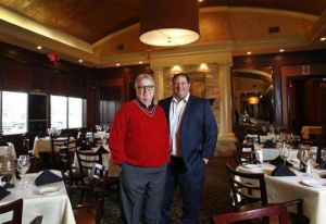 © Provided by The Columbus Dispatch William Lalli, left, and his son, Nick Lalli, right, in their restaurant, Vittoria Prime Italian Steakhouse, last year. [Fred Squillante/Dispatch]Gitto, Jr.