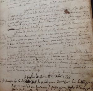 Writing to Italy for records, such as these 1767 baptismal records, may seem overwhelming if you do not read or write in Italian.  In this month's column you will find all the resources you need to write for Italian records with confidence.