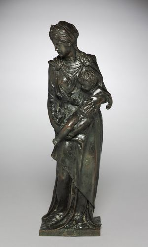 Madonna and Child, early 1530s, Bronze, h. 18-3/4 inches Jacopo Sansovino, Italian, Venice, 1486-1570 The Cleveland Museum of Art, The John L. Severance Fund  1951.316
