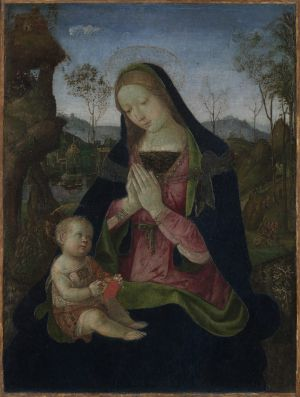 Madonna and Child | Tempera and oil on wood panel, ca. 1490-1500, | 29 x 23 inches | Pinturicchio (Benedetto di Betto) | Italian, Perugia, 1454-1513 | The Cleveland Museum of Art, | The Elisabeth Severance Prentiss Collection  1944.89