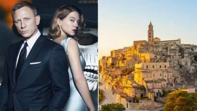 "<div class=""buttonTitle""><div class=""roundedlIcon white mbianco mprest""></div></div>James Bond in Matera"