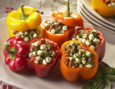 Fresh Mozzarella Stuffed Peppers