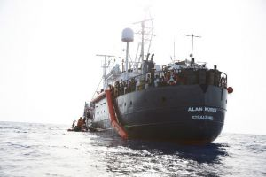 Open Arms charity ship with 124 rescued migrants on board was banned from entering Italian waters