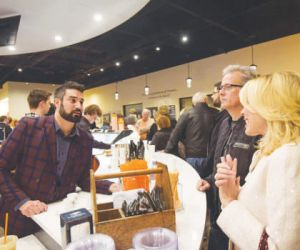 Fairlawn's new Café Arnone is the brainchild of first cousins Michael Maghes and Rocco LaRose  (pictured here serving guests during the grand opening). (Photography: Chris Callaway)