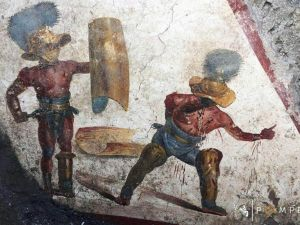 "<div class=""buttonTitle""><div class=""roundedlIcon white mbianco mprest""></div></div>A new fresco discovered in the ancient Roman city of Pompeii."