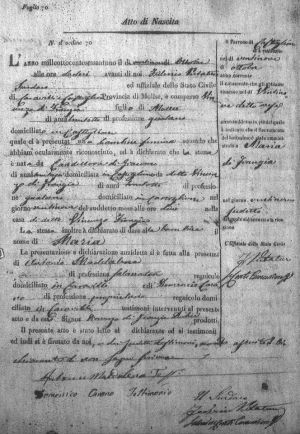 This month, Roslyn does a deep dive on reading and translating Italian civil birth records like this one, her second great-grandmother's. Some civil records also contain baptismal information, usually found in the right margin like you see in this record.