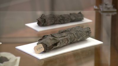 Ancient scrolls charred by the Vesuvius's eruption could be read with a new x-ray technique