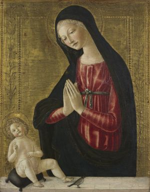 Madonna and Child with a Goldfinch, ca. 1490 Tempera and gold on wood (25-9/16 x 17-11/16 inches) Neroccio de'Landi Italian, Siena, 1447-1500 The Cleveland Museum of Art, Leonard C. Hanna, Jr. Fund   1980.101